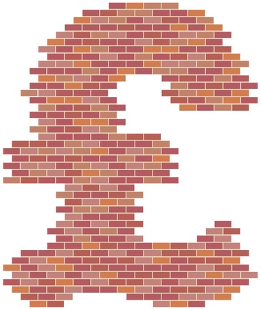 Rebuilding the British economy or the British construction industry pound symbol  Vector
