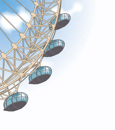 millennium wheel: London eye detail Editorial