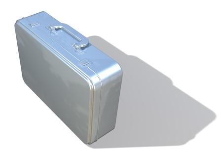 attache: Metal attache, brief case view 2