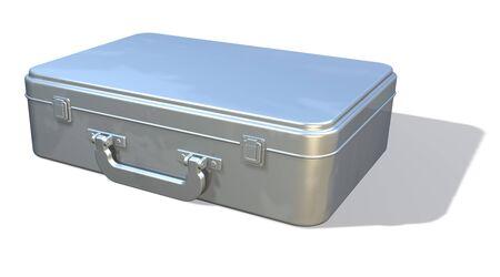 brief case: Metal attache, brief case view 3 Stock Photo