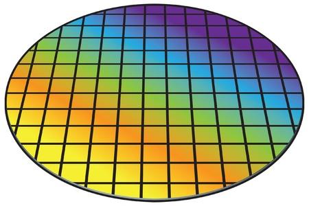 Plaquette de silicium, de la biscuiterie Vecteurs