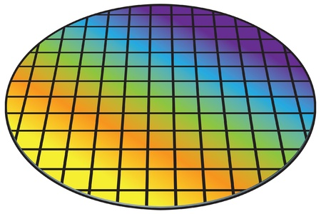 wafers: Silicon wafer, biscuit Illustration