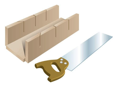 miter: Tenon saw and mitre block