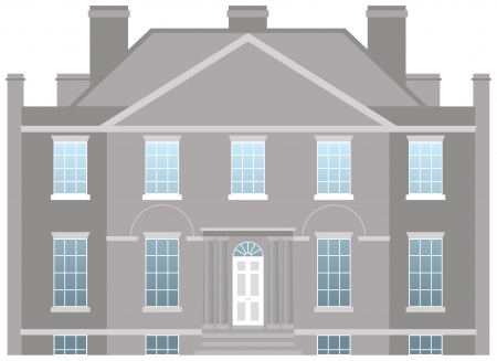 Big country house, family home vector Illustration