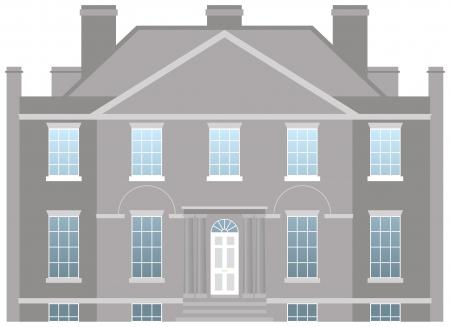 maison de maitre: Grande maison de campagne, vecteur maison familiale
