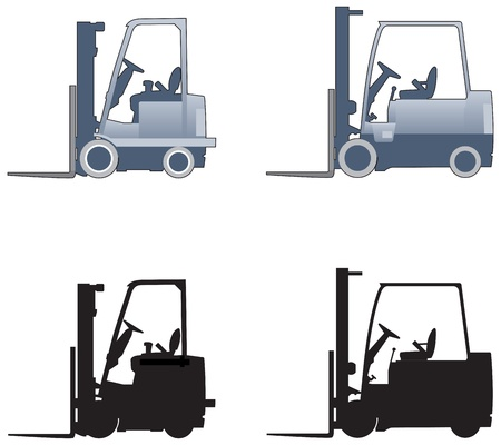 Fork lift trucks Stock Vector - 15077494