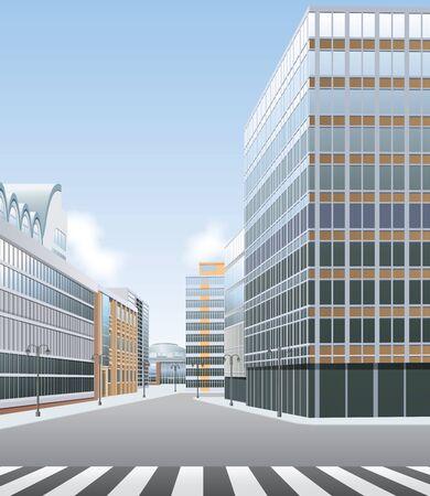 shopping centre: High street, business or shopping centre vector