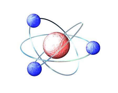 Digital CAD illustration of atom, neutron on white Stock Illustration - 16481193