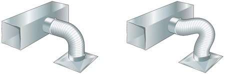air duct: Ductwork, air conditioning, ventilation, heating Illustration