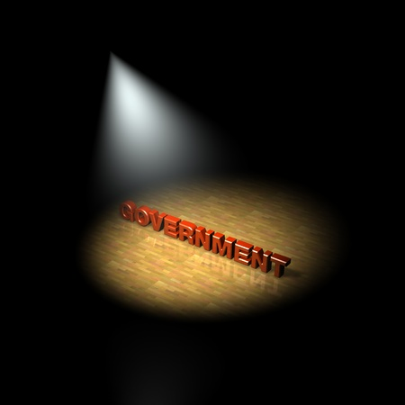 government regulations: Government focus, spotlight on the government  3D