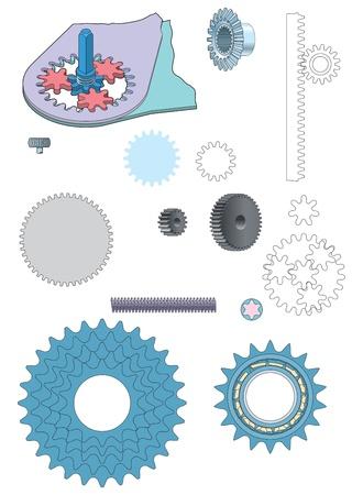 Machine gear wheels cogwheels vector image Stock Vector - 18700219
