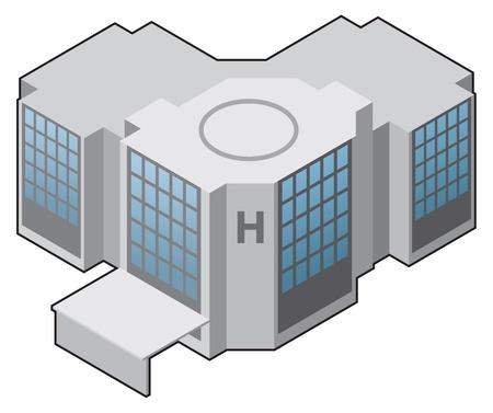 school house: Hospital, icono de m�dico vector