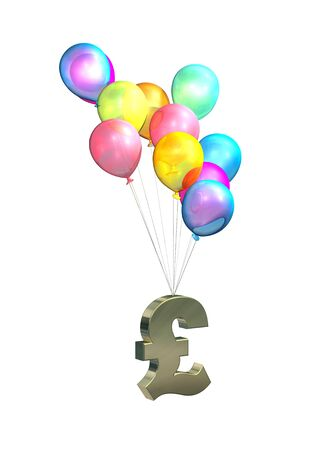 rising prices: UK Inflation, rising prices, interest rates, tax rises on white background