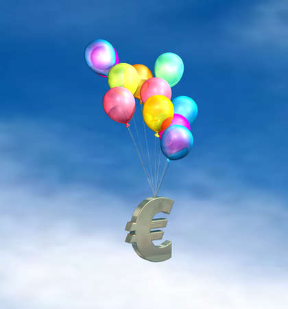 rising prices: European Inflation, rising prices, interest rates, tax rises Stock Photo