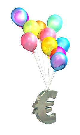 rising prices: European Inflation, rising prices, interest rates, tax rises on white background