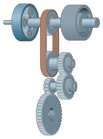 industrial belt: Gears and drive belt