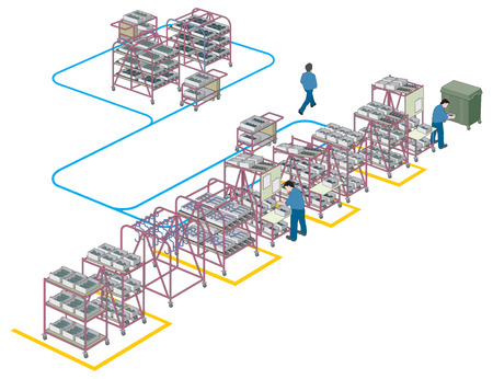 racking: Factory supply and production line 1 vector