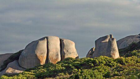 Granite Boulders at Cheynes Beach on late afternoon