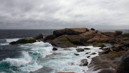 Stormy Seascape at Cape Freycinet Stock Photo