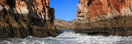 The second gap at the Horizontal Falls in Talbot Bay, West Kimberley.