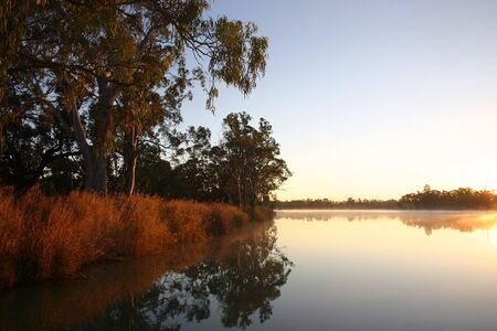 Sunrise on the Murray River in late June near Kingston-on-Murray
