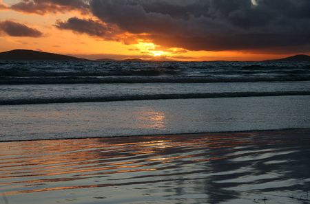 Stormy Sunset at Cape Le Grande Beach