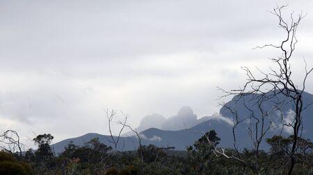 ranges: Meteo tempestoso in intervalli di Stirling, Borden, Western Australia Archivio Fotografico