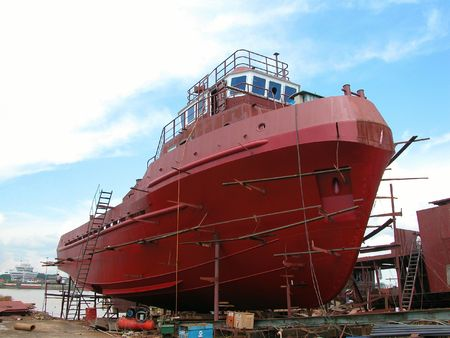 tug boat: Tug boat construction