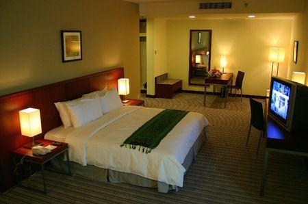 guest room: Hotel camera per gli ospiti  Archivio Fotografico