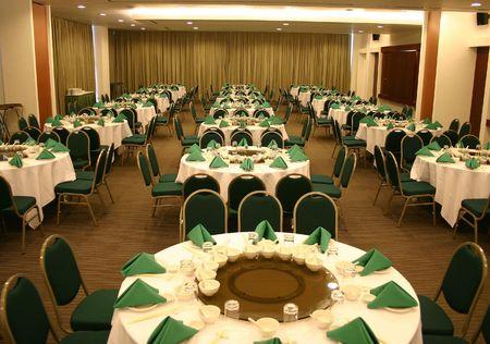 dinner hall: Banquet Hall Stock Photo