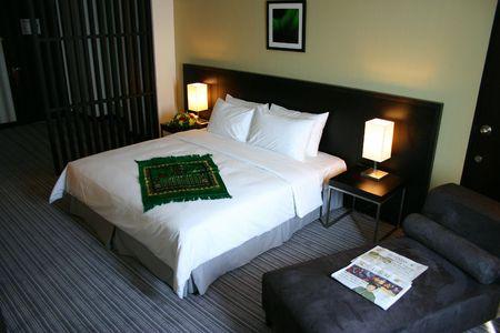 guest room: Hotel Guest Room Archivio Fotografico