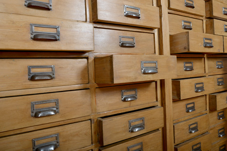 Cabinet with wooden drawers Stock Photo - 22671508