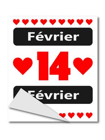 14 fevrier,la fete des amoureux Vetores