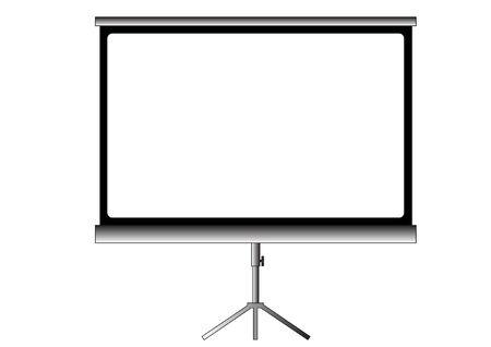projector screen: vecchio schermo del proiettore home cinema
