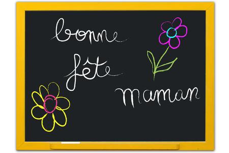 happy feast: happy feast mom on blackboard