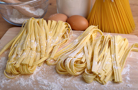 pappardelle homemade pasta typical italian  photo