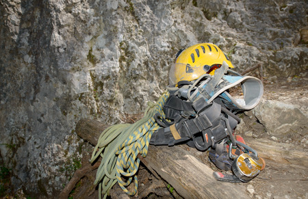 steeplejack: equipment steeplejack in the mountains