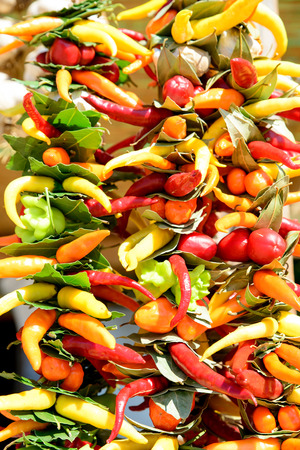 peppers on the market  photo