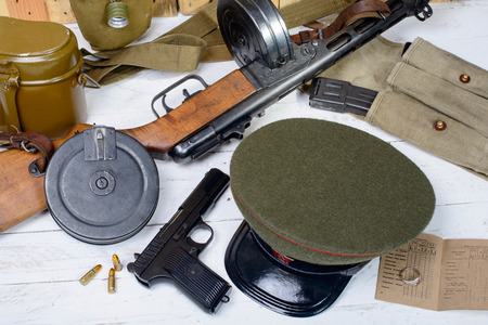 equipment of the Soviet soldier during World War II photo