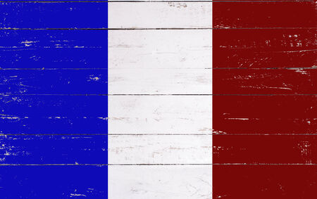 french board: french flag painted on a wooden board