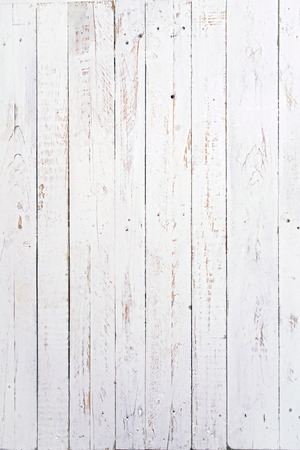 several wooden boards painted white and used