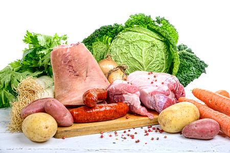 légumes et de viande pour le pot-au-feu