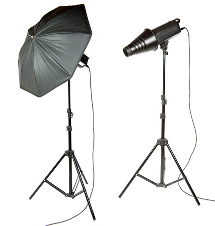 snoot: umbrella and snoot for photographer on the white background