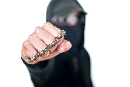 an offender attack with Brass knuckles