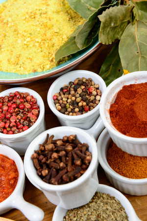 piri: assortment of Indian spices