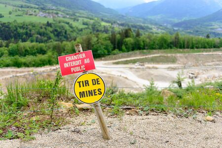 peligro: signos francés explosivos Peligro