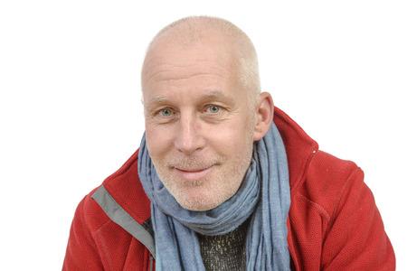 portret van een man van middelbare leeftijd met een kleine baard Stockfoto
