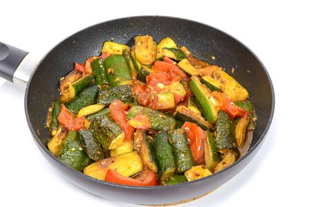 fricassee: fricassee of vegetables to the pan