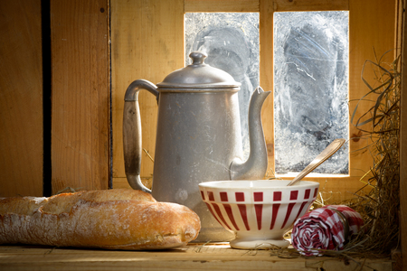french countryside: breakfast in the French countryside