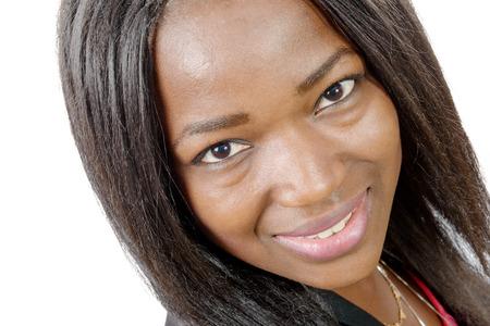 american sexy: Портрет красивой афро-американских молодая женщина улыбается